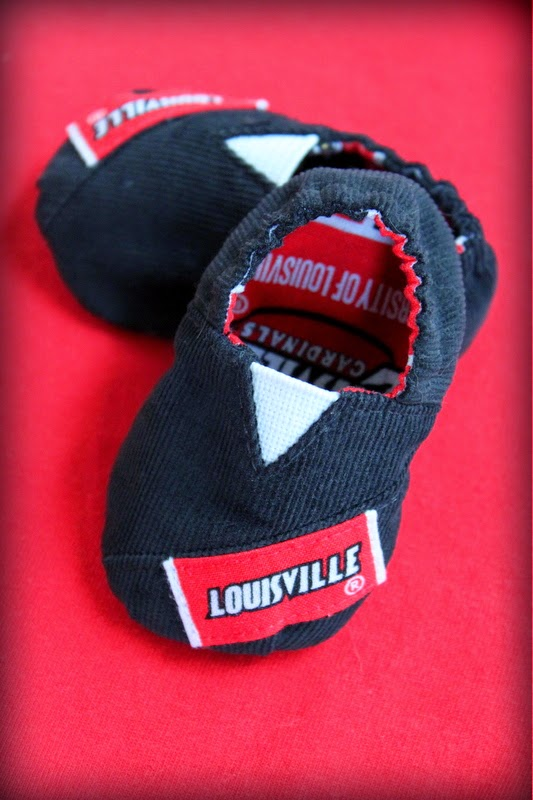 University of Louisville baby shoes