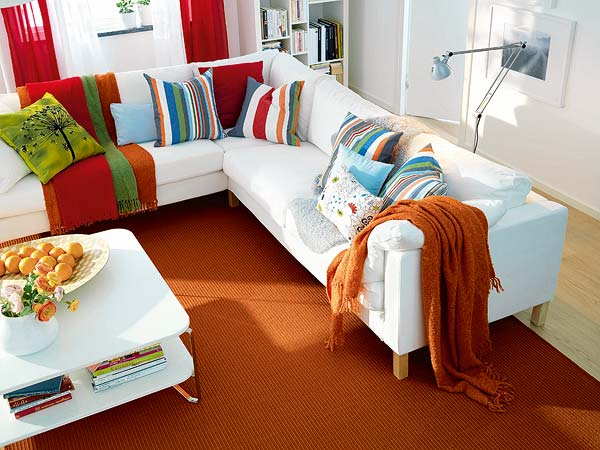 Blog de decorar sala de tv decorada com sof nico e chaise - Colores de sofas ...