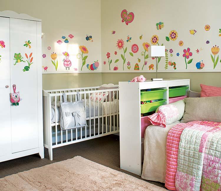decoracao de jardim para quarto de bebe: fazem deste quarto de bebê uma maravilhosa paisagem de primavera