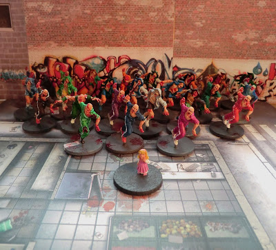 Zombicide, all, runners, painted, zombies, complete
