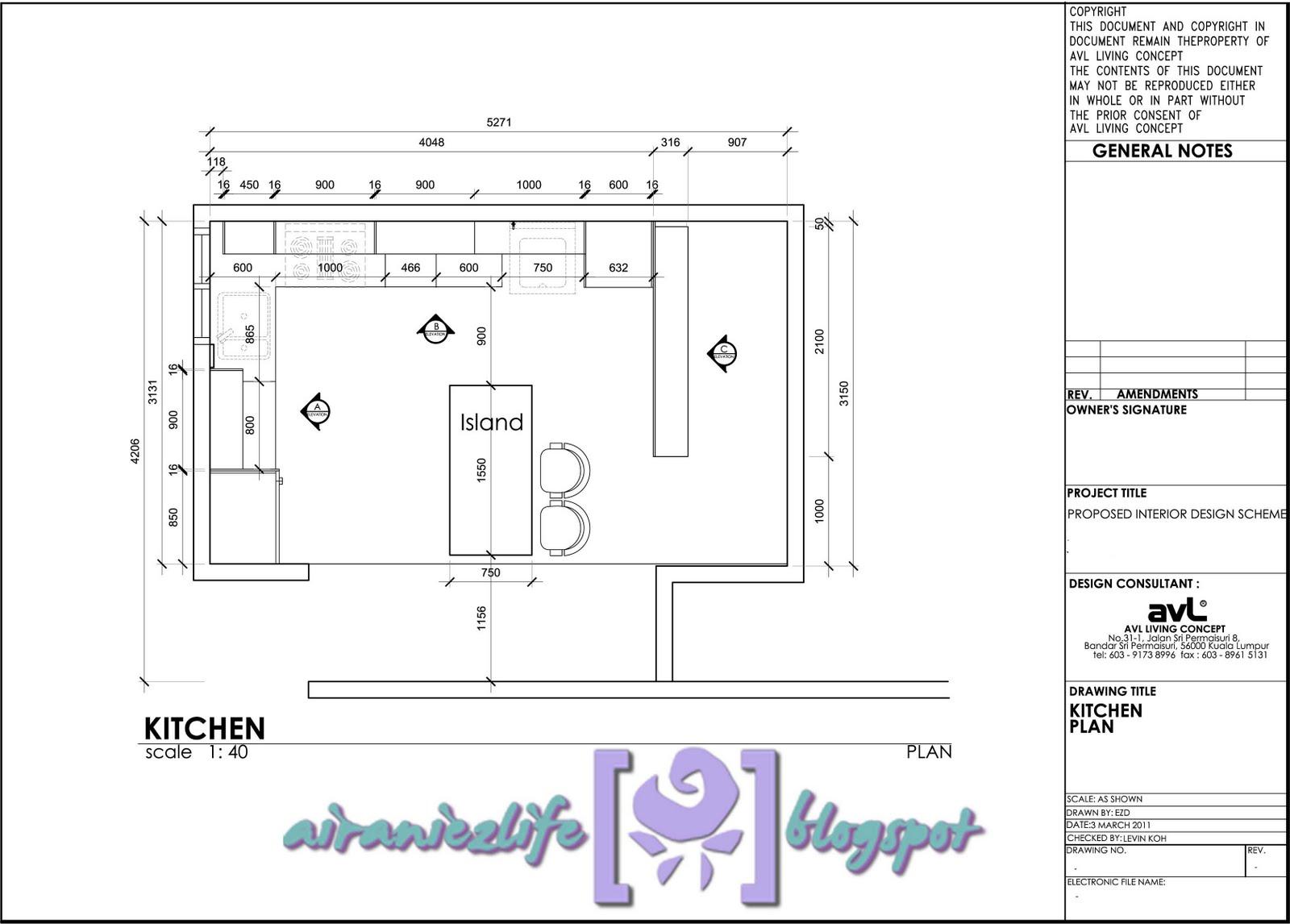 Rekaan KabiDapur  AVL Living Concept