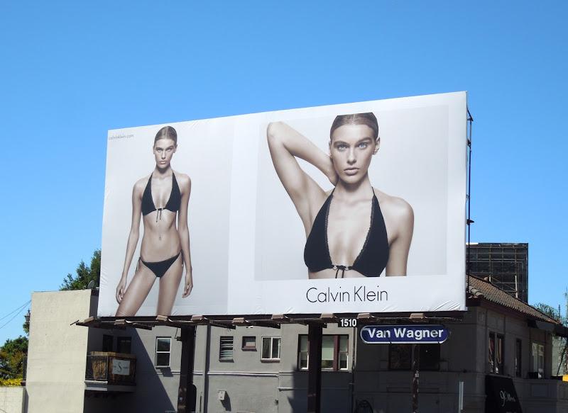 Calvin Klein bikini billboard