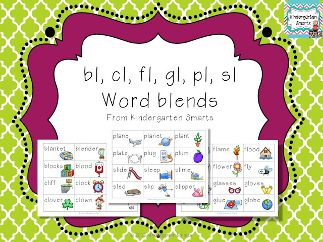 bl cl fl gl pl sl L Word Blend Activity Kindergarten Smarts – L Blends Worksheets