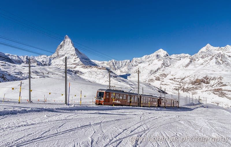 Gornergratbahn, The Matterhorn railway.