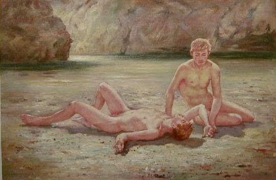 Noonday Heat (Henry Scott Tuke,1902)