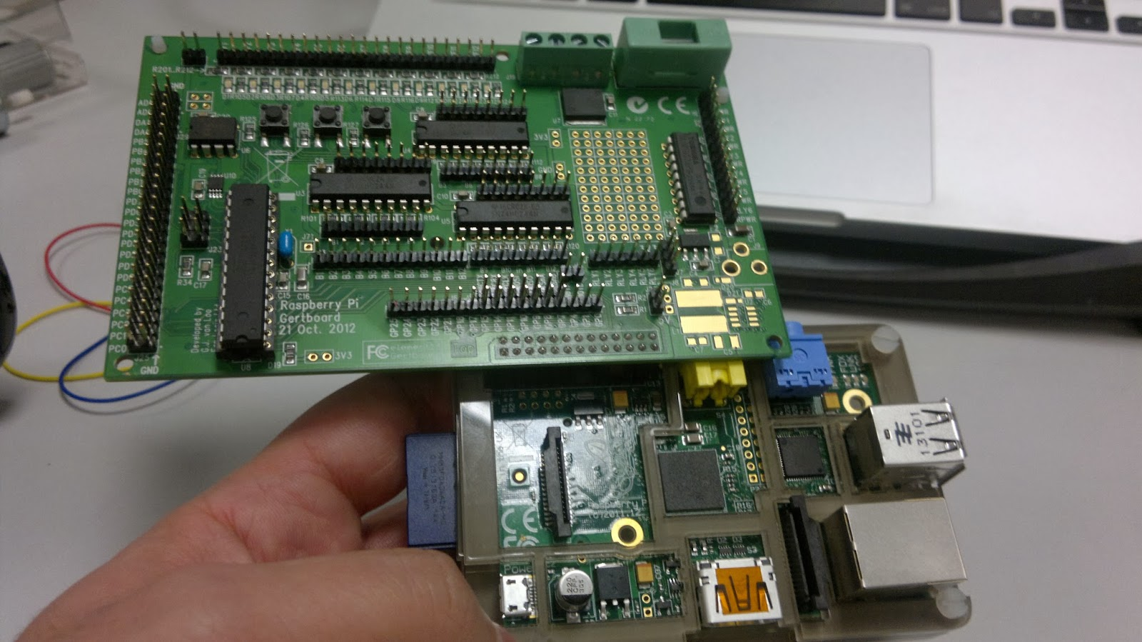 Connect Gertboard To Raspberry Pi And Run Led Test Funtech Install Wiringpi On Programs Overview