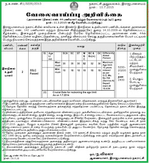 Rajapalayam Municipality Recruitments July 2015 (www.tngovernmentjobs.in)