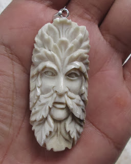Green Man Antler Pendants 001