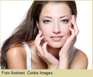 Gambar wanita dengan wajah cantik