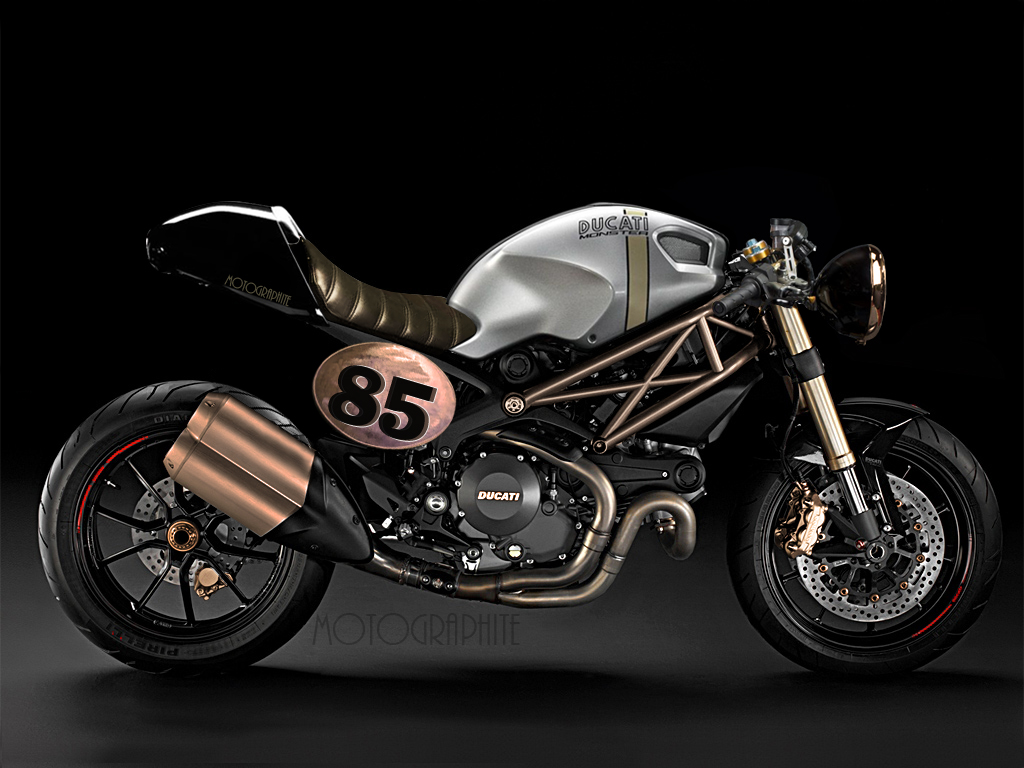 The new DUCATI Monster has a much more modern design than the previous ...
