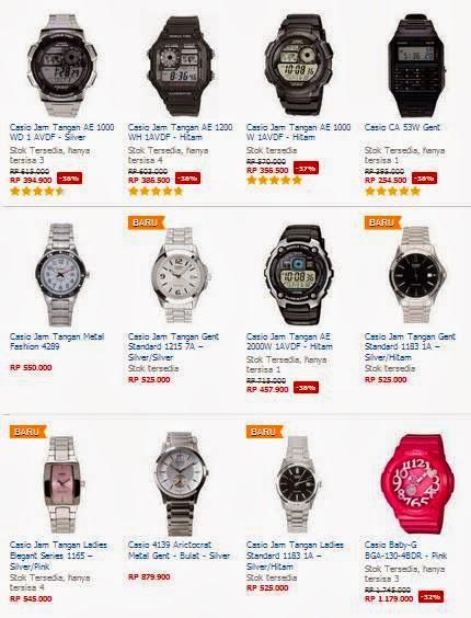 Daftar Harga Jam Tangan Pria Casio Terbaru