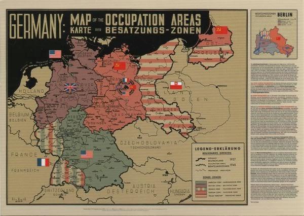 A Postcard a Day Maps on Monday Germany