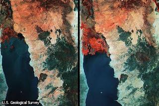 Imágenes de satélite del lago Turkana