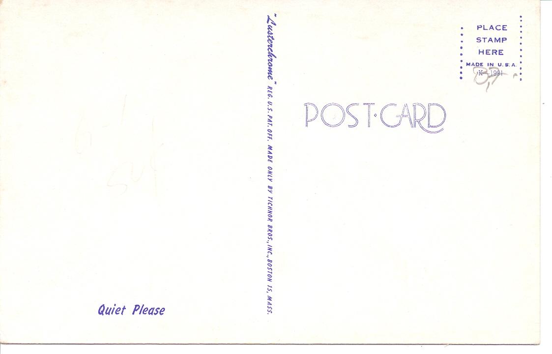 Postcard Traveler Quiet Please Baby Vintage Postcard Cute