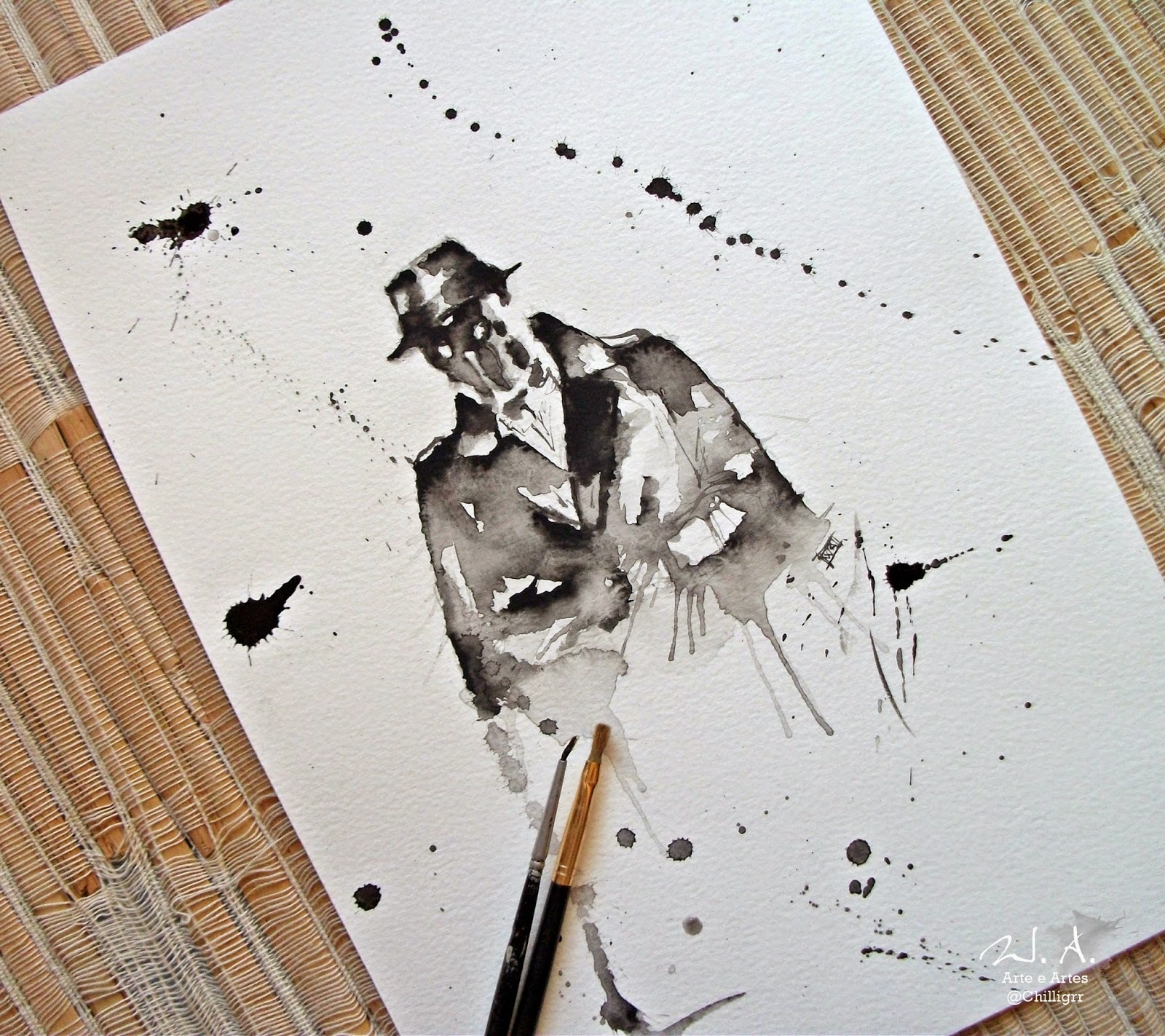 rorschach, watchman, rorschach watercolor, rorschach drawing, rorschach painting, watchman painting, watchman drawing, watercolor, watercolor tattoo,