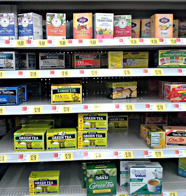 Walmart Tea display