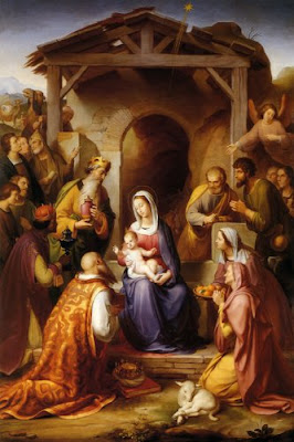 Nativity painting by Franz von Roden