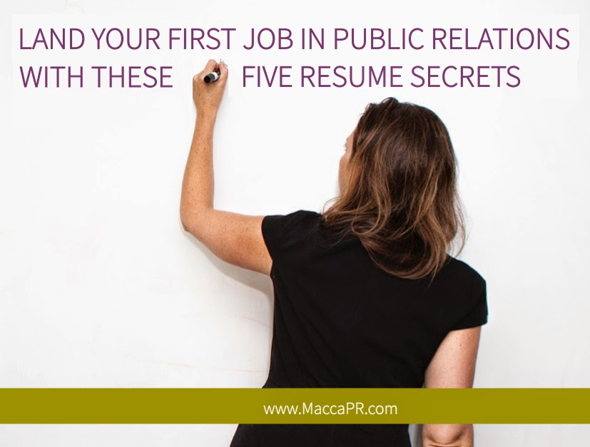 Resume Tips from Maccabee Public Relations