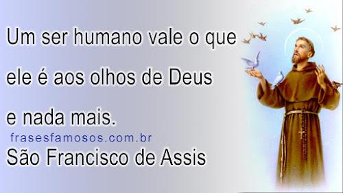 Frase São Francisco de Assis