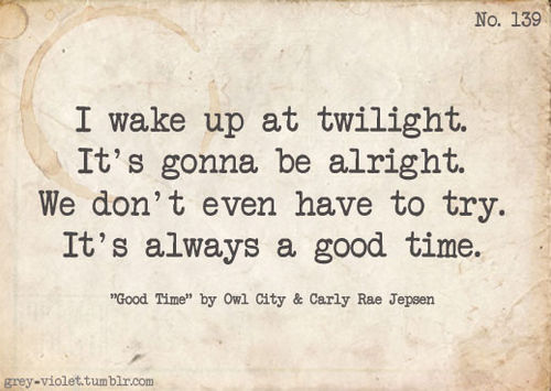 good time lyrics city