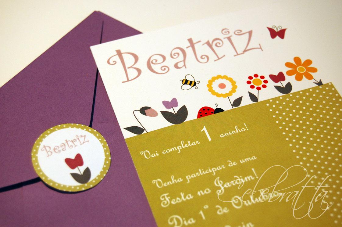 flores no jardim letra:Celebratta – emoções em papel: Festa no Jardim!