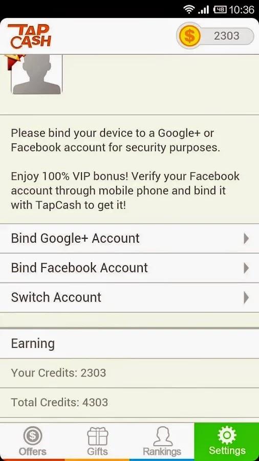 tapcash android app