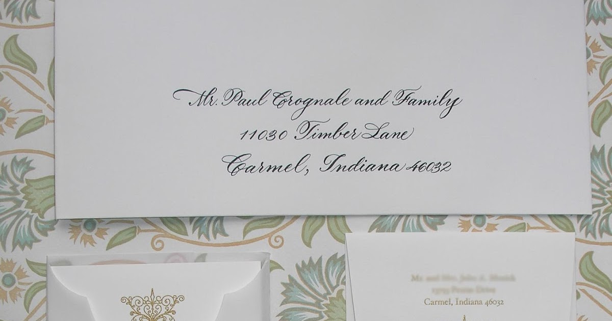 Wedding Calligraphy By Jane Farr Vera Wang Embossed