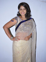 Actress Tanusha Photos in Saree at Present Love Audio-cover-photo