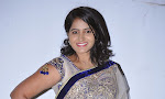 Actress Tanusha Photos in Saree at Present Love Audio-thumbnail