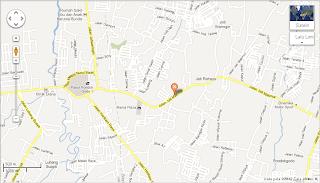 Petunjuk arah peta map Denah Bekasicell kodepos 17413 Jalan Jati