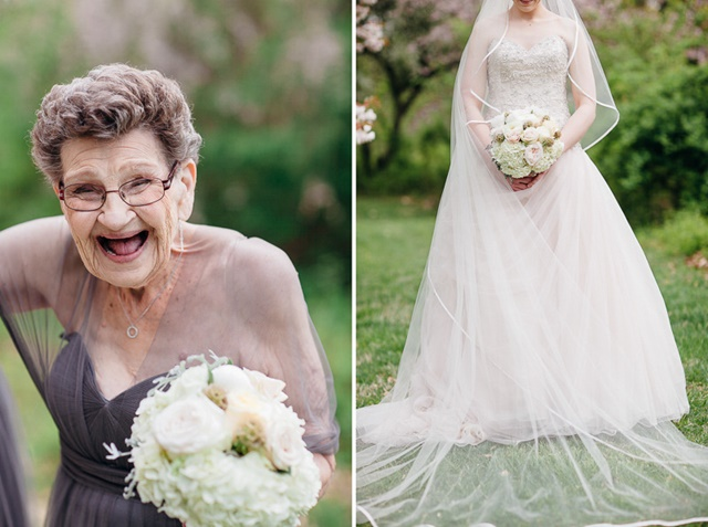 COMEL! Foto Sempoi Nenek 89 Tahun Sertai 'Bridesmaids' Pengantin Perempuan
