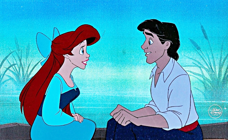 Disney prince and princess in love