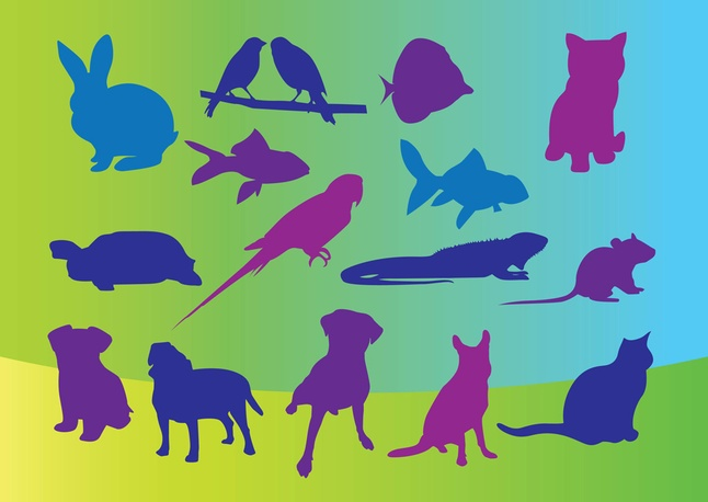 Free Graphics Vector Pets Silhouettes