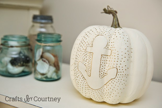Crafts by Courtney | anchor coastal pumpkin