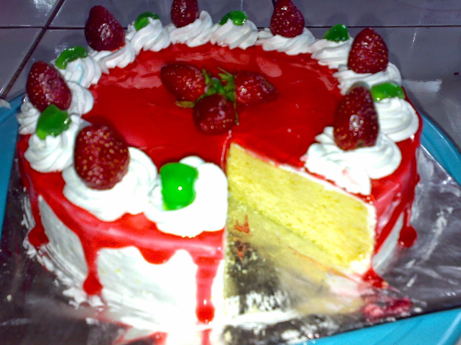 cake strawberry keju