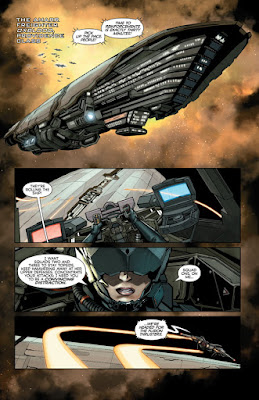 Interior art from EVE: Valkyrie #1, courtesy of Dark Horse Comics
