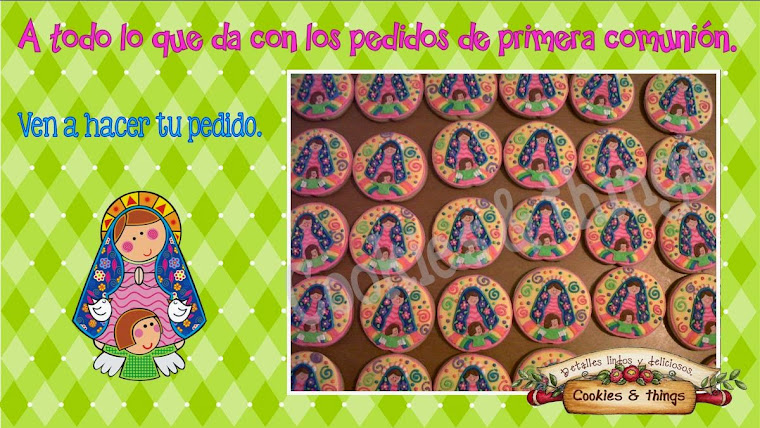 Galletas decoradas virgencita