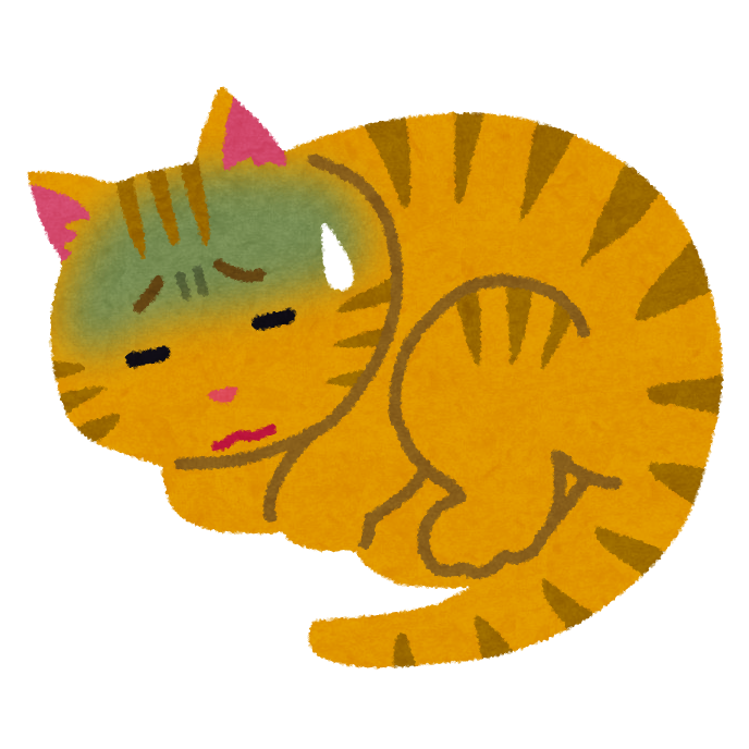 病気の猫のイラスト(ペット) 病気の猫のイラスト(ペット)   かわいいフリー素材集 いらすとや