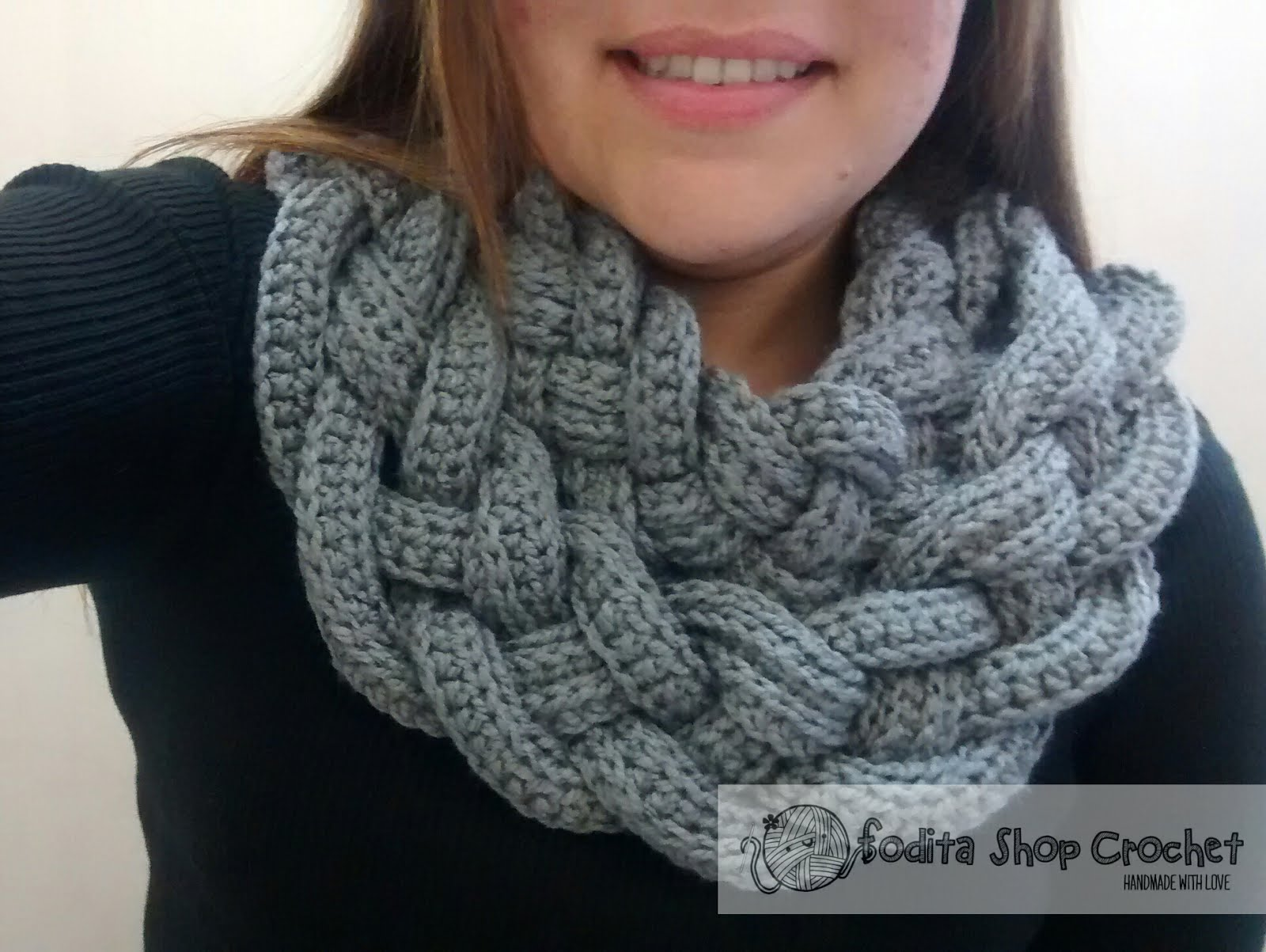 Bufanda trenzada   Fodita Shop Crochet