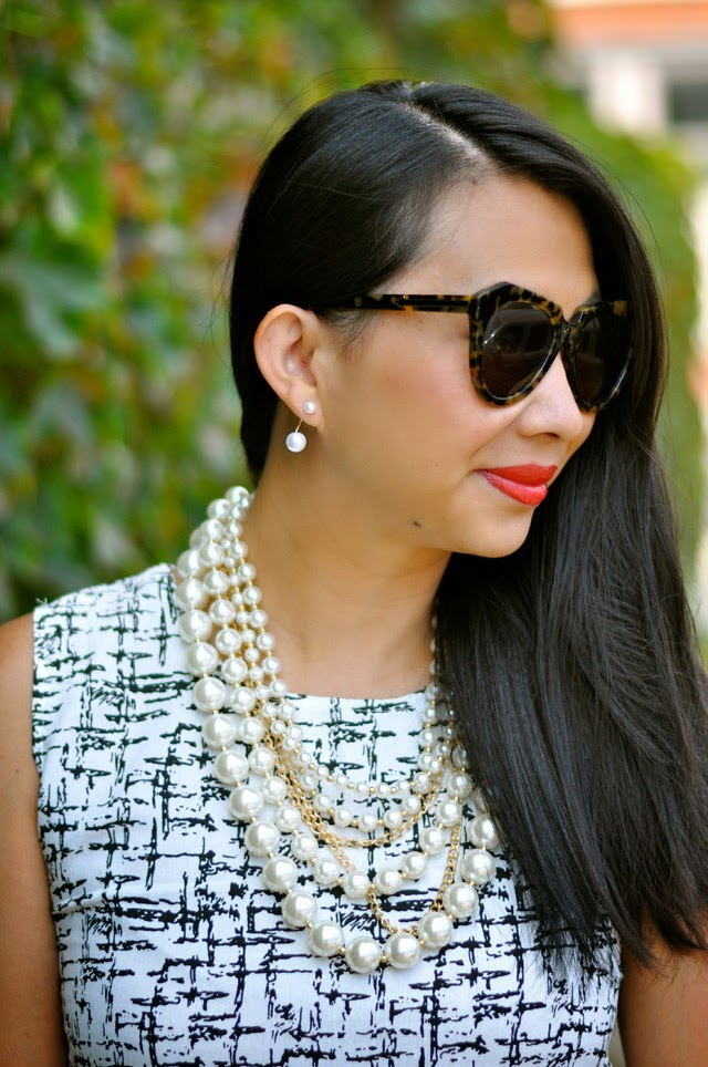 t+j Designs Layers of Pearl and Pearl Drop Earrings