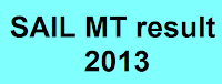 SAIL MT result 2013