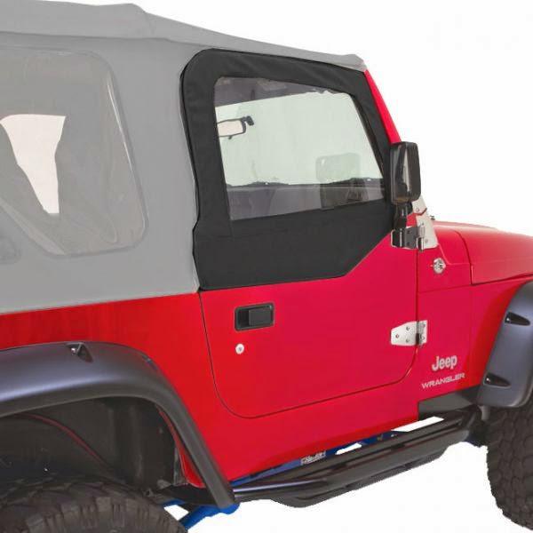 Rampage Upper Half Door Window Frames for 1987-1995 Jeep Wrangler YJ 89699 Black