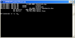 deleting virus in computer using cmd command