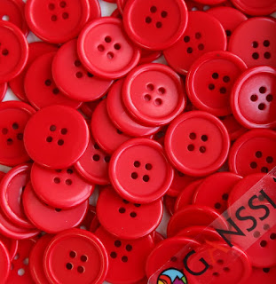Red buttons for Valentine's Day craft