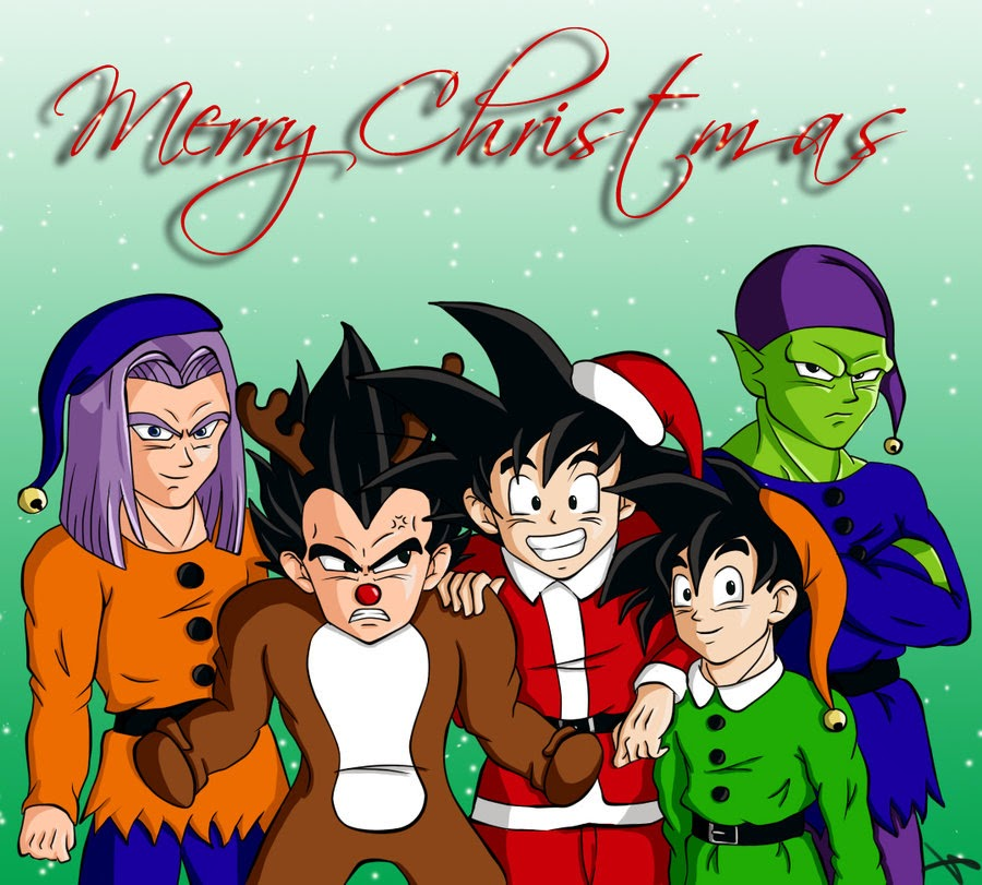 Dragon Ball Super Christmas Wallpaper: Super Sayajines: Merry Christmas