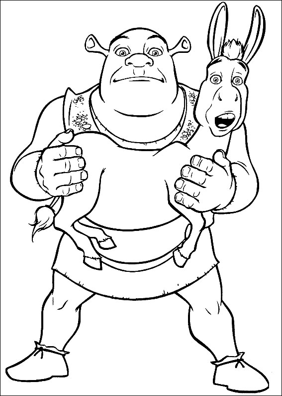 shrek 2 coloring book pages - photo#5
