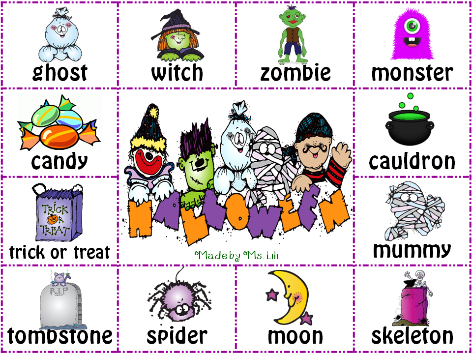 halloween verbs by halloween is almost here my english and science - Halloween Vocab Words