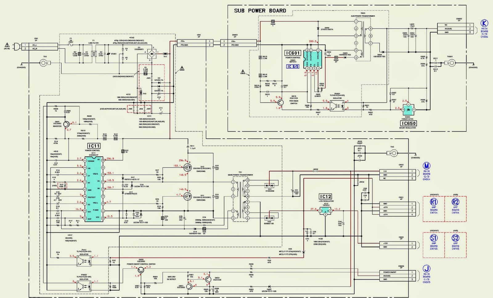Schematic Diagrams  Sony Hcd-hx3  Hx5  Hx7