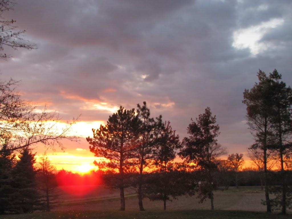 Pinehaven - Farmersville, Ohio: Sunset - November 21, 21013   title   sunset in november