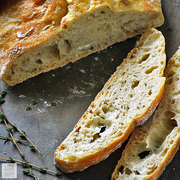 Crusty Artisan Style Bread #SundaySupper | Life Tastes Good